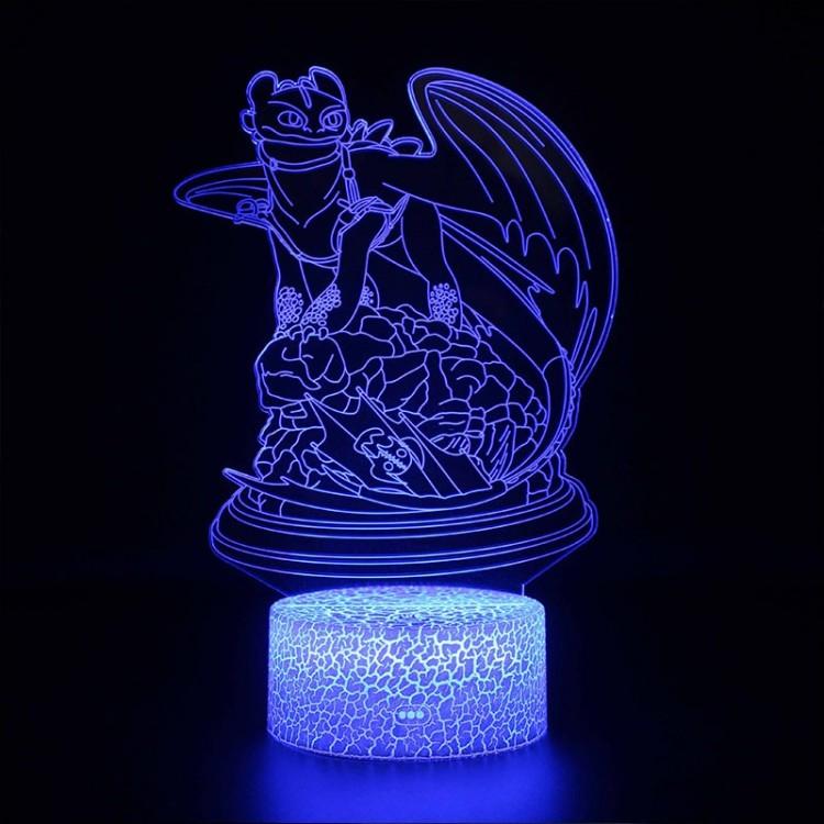 Lampe 3D Dragons Krokmou