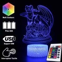 Lampe 3D Dragons Krokmou caractéristiques