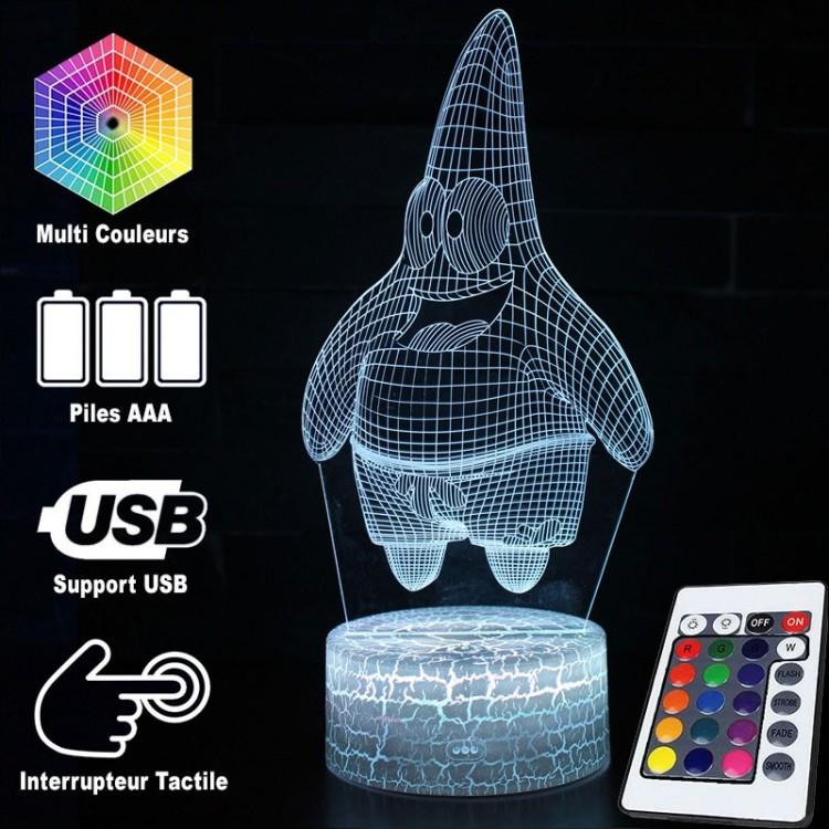 Lampe 3d Bob L éponge Patrick étoile