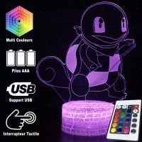 Lampe 3D Pokémon Carapuce caractéristiques