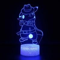 Lampe 3D Pokémon Détéctive Pikachu chapeau