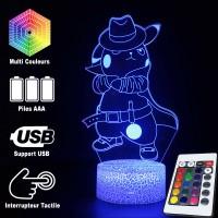 Lampe 3D Pokémon Détéctive Pikachu chapeau caractéristiques