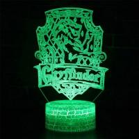 Lampe 3D blason Gryffondor