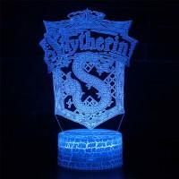 Lampe 3D blason Serpentard