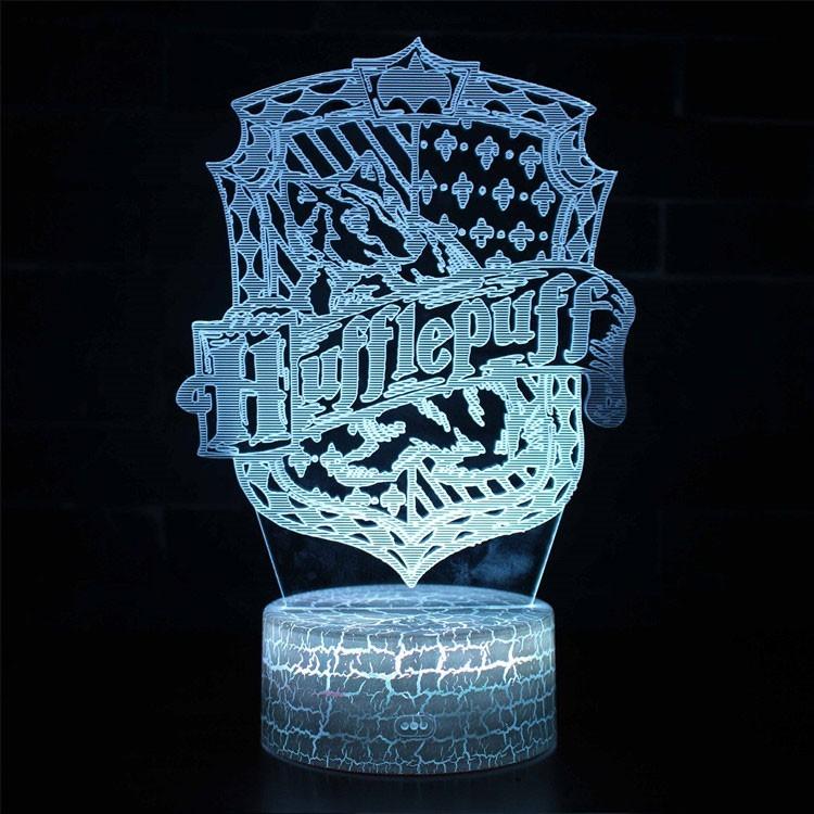 Lampe 3D blason Poufsouffle