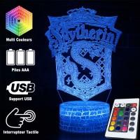 Lampe 3D blason Serpentard caractéristiques