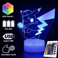 Lampe 3D Pokémon Détéctive Pikachu caractéristiques
