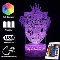 Lampe 3D blason Serdaigle caractéristiques