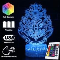 Lampe 3D blason Poudlard caractéristiques