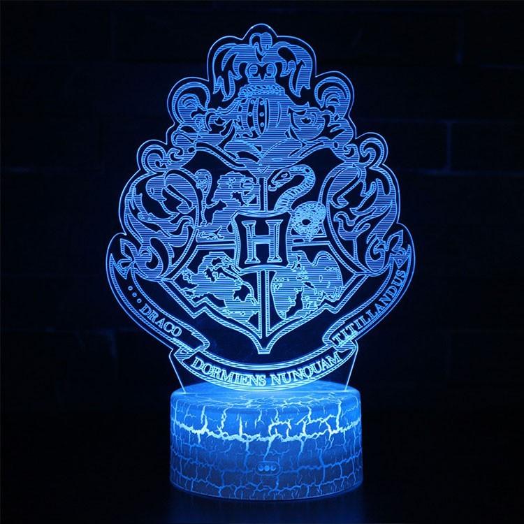 Lampe 3D blason Poudlard