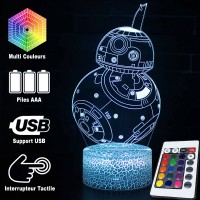 Lampe 3D BB-8 caractéristiques