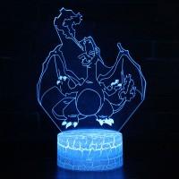 Lampe 3D Pokémon Dracaufeu