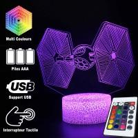 Lampe 3D Chasseur TIE caractéristiques