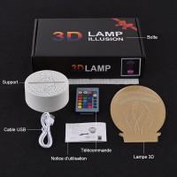 Lampe 3D contenu de la boite