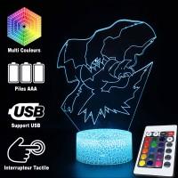 Lampe 3D Pokémon Darkrai caractéristiques