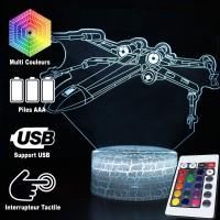 Lampe 3D Chasseur X-Wing caractéristiques