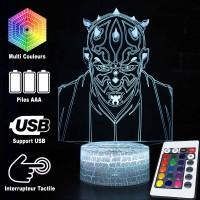 Lampe 3D Dark Maul caractéristiques