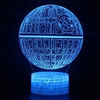Lampe 3D Étoile de la Mort
