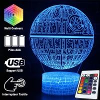 Lampe 3D Étoile de la Mort caractéristiques
