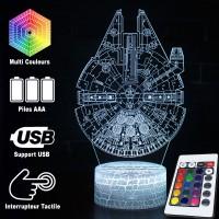 Lampe 3D Faucon Millenium caractéristiques