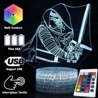 Lampe 3D Kylo Ren caractéristiques