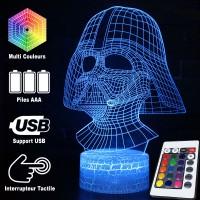 Lampe 3D Masque de Dark Vador caractéristiques