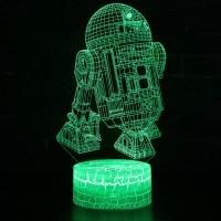 Lampe 3D R2-D2