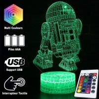 Lampe 3D R2-D2 caractéristiques