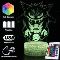 Lampe 3D Pokémon Ectoplasma Spectrum Fantominus caractéristiques