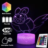 Lampe 3D Pokémon Emolga caractéristiques