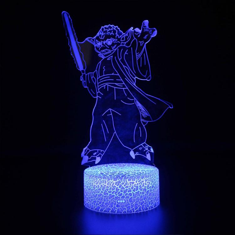 Lampe 3D Yoda sabre laser