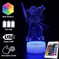 Lampe 3D Yoda sabre laser caractéristiques