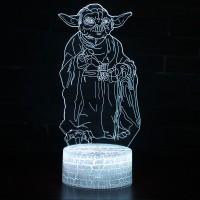 Lampe 3D Yoda