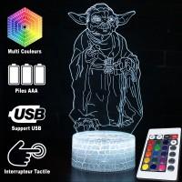 Lampe 3D Yoda caractéristiques