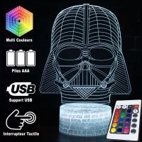 Lampe 3D casque Dark Vador caractéristiques