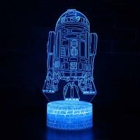 Lampe 3D droïde R2-D2