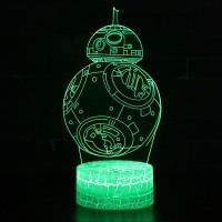 Lampe 3D droïde BB-8