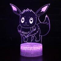 Lampe 3D Pokémon Évoli