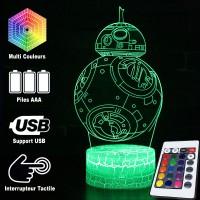 Lampe 3D droïde BB-8 caractéristiques