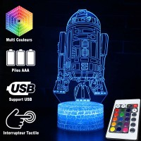 Lampe 3D droïde R2-D2 caractéristiques