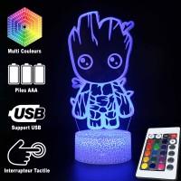 Lampe 3D Bébé Groot caractéristiques