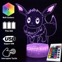 Lampe 3D Pokémon Évoli caractéristiques