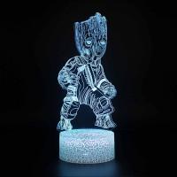 Lampe 3D Bébé Groot réaliste
