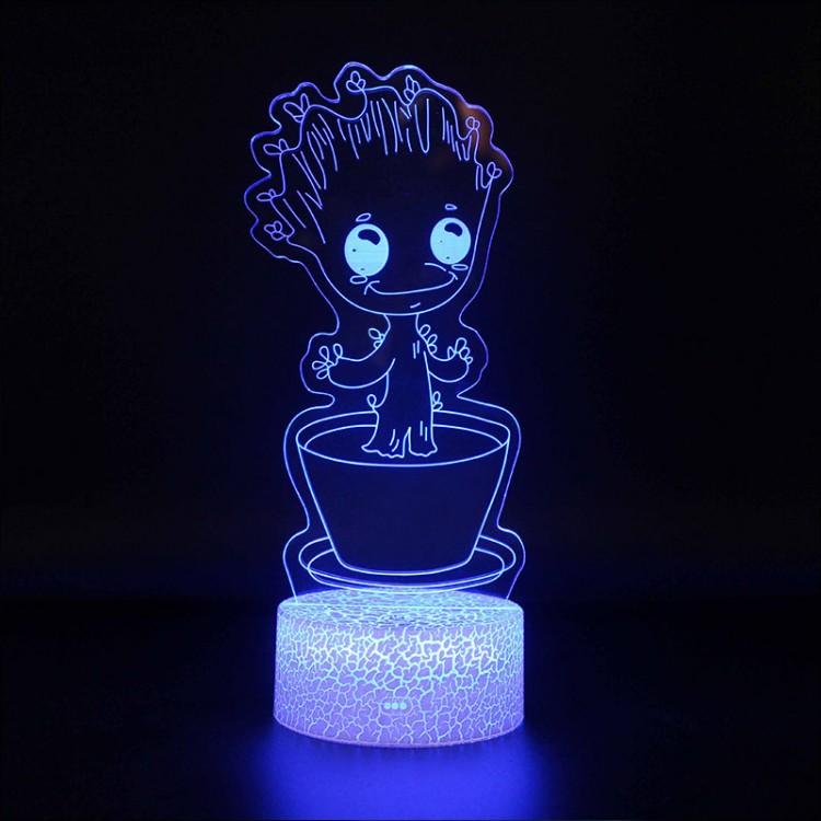 Lampe 3D Bébé Groot dans son pot