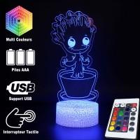 Lampe 3D Bébé Groot dans son pot caractéristiques