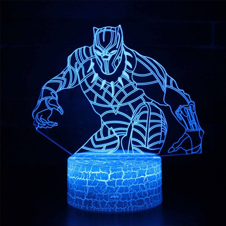 Lampe 3D Black Panther