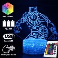 Lampe 3D Black Panther caractéristiques