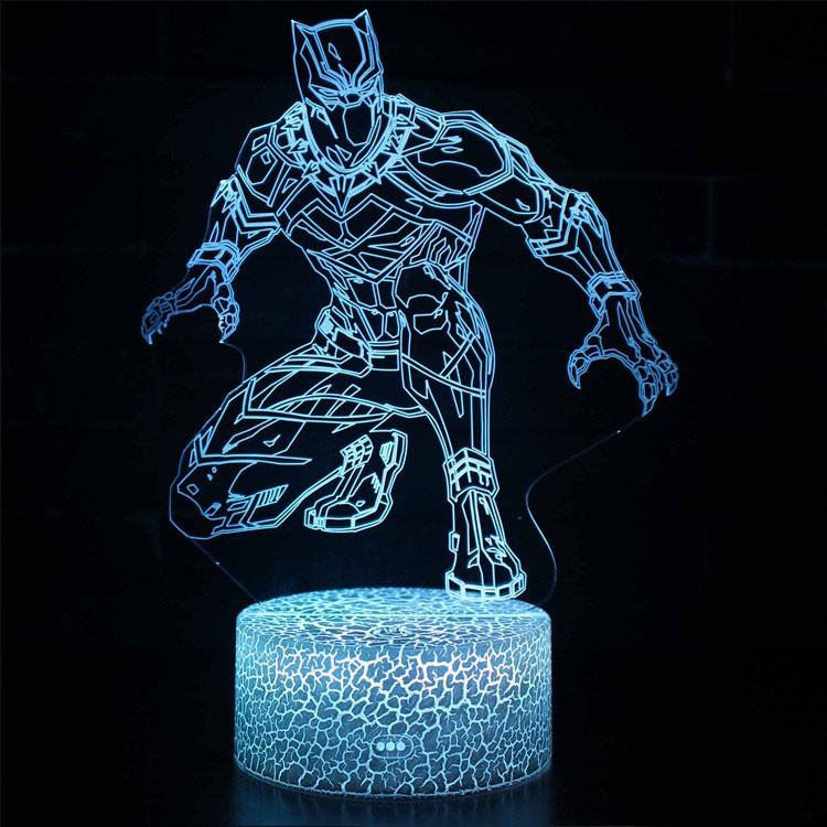 Lampe 3D Black Panther furtif