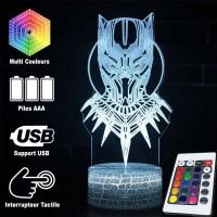 Lampe 3D Black Panther masque caractéristiques