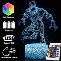 Lampe 3D Marvel : Black Panther furtif